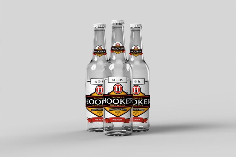 download this free beer bottle mockup in psd designhooks