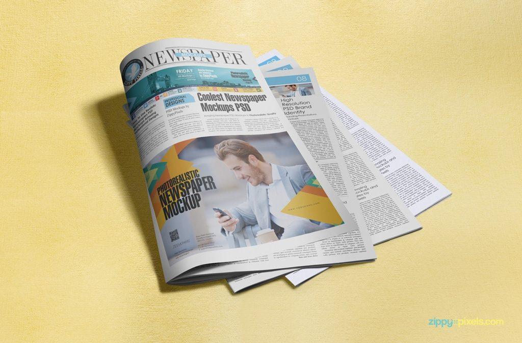 dribbble newspaper mockup vol5 11 zippypixels