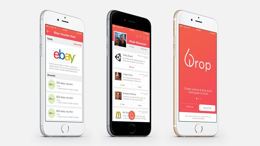 entry 9 dikigunawan for design an app mockup for mobile social