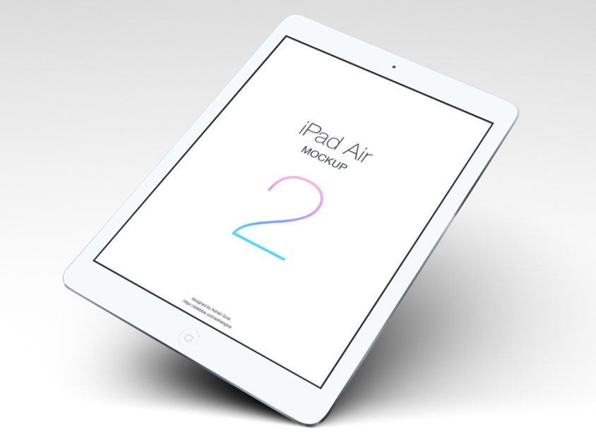 floating ipad air 2 mockup mockupworld