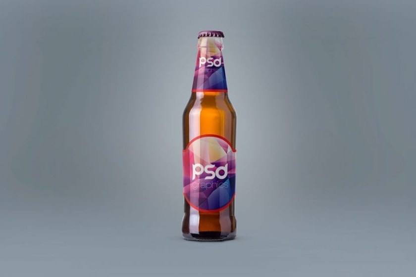 free beer bottle mockup freemockup