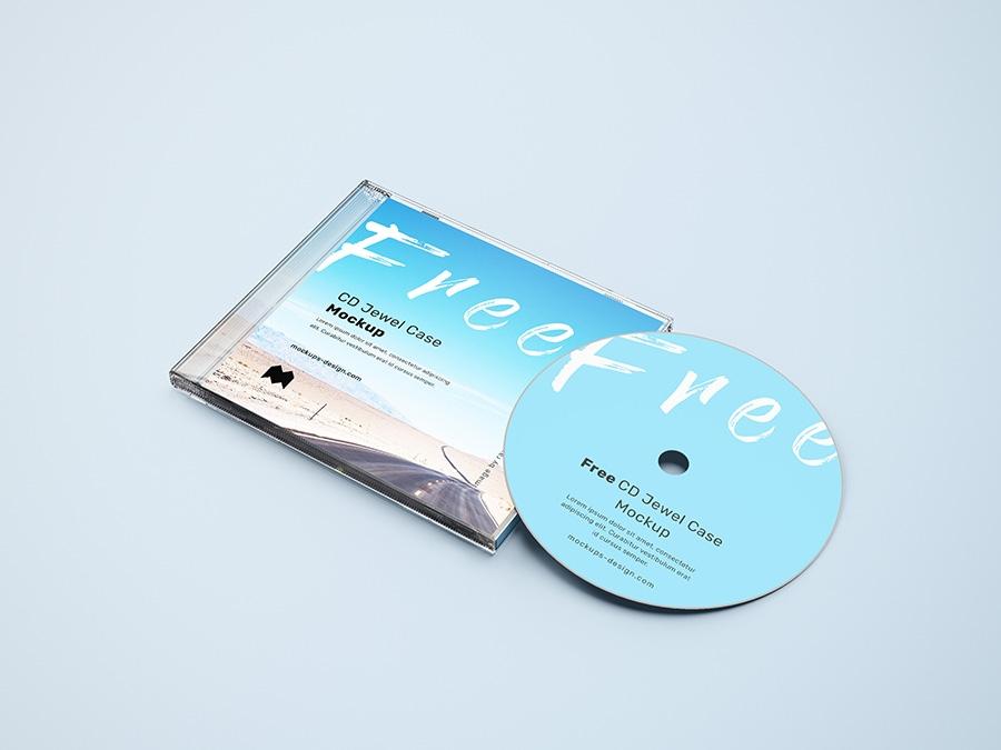 free cd jewel case mockup freemockup