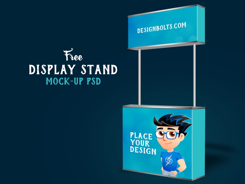 free display stand mock up psd zee que designbolts on dribbble