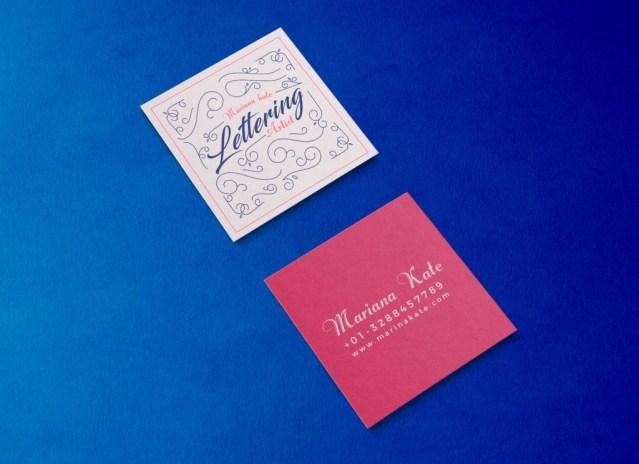 free front back square business card mockup psd good mockups