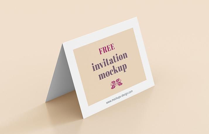 free invitation mockup mockups design free premium mockups