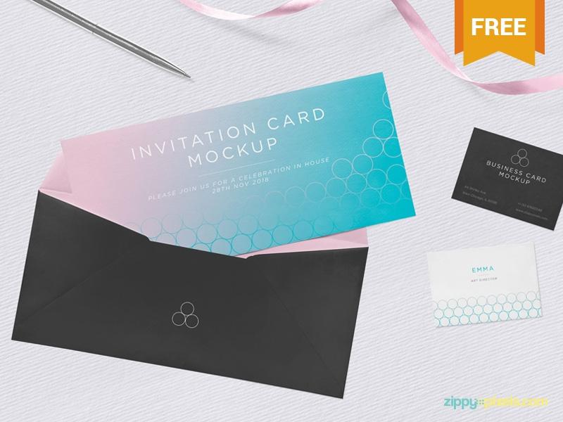 free invitation mockup psd zippypixels on dribbble