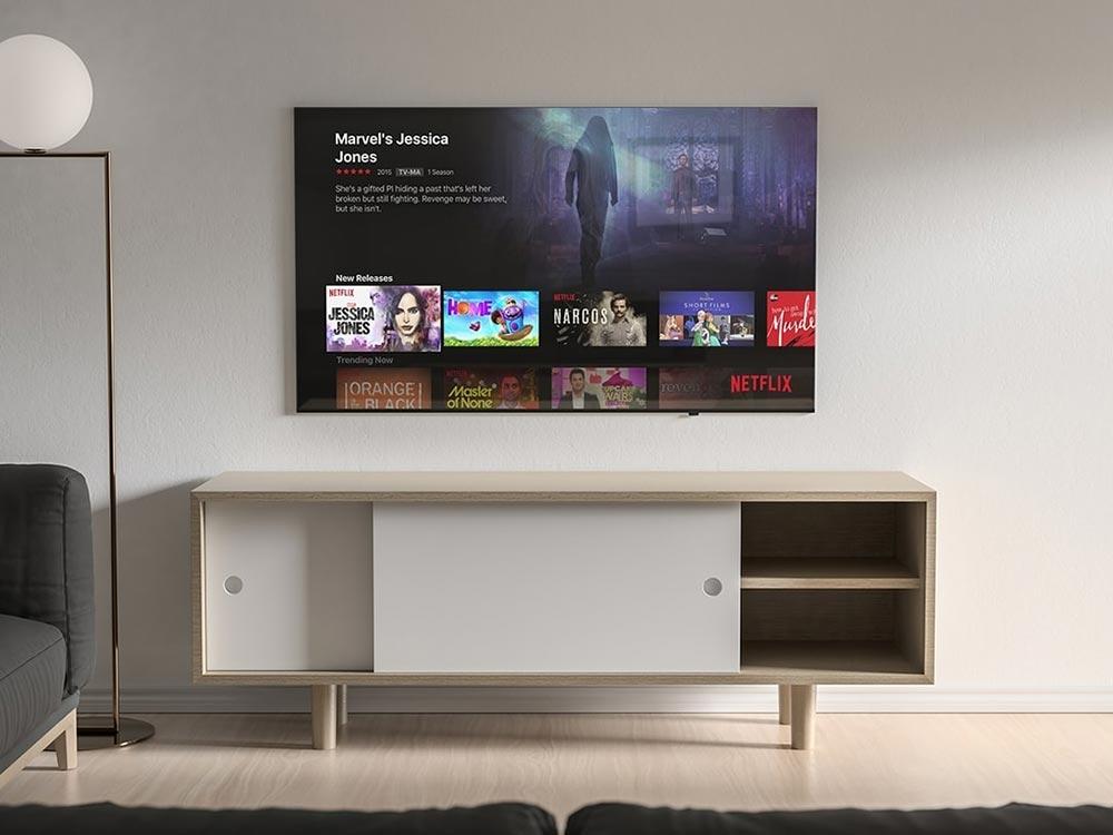 free modern tv mockup mockuptree
