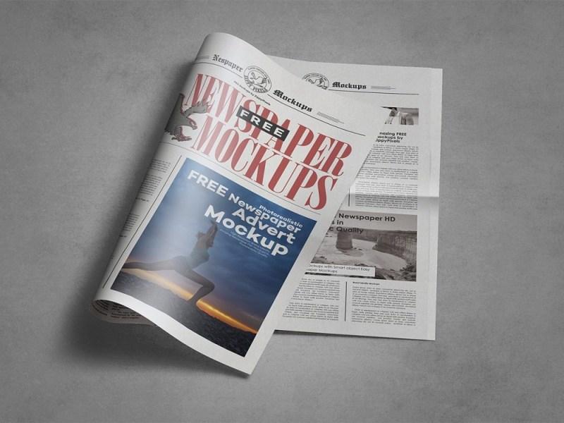 free newspaper mockup free mockup