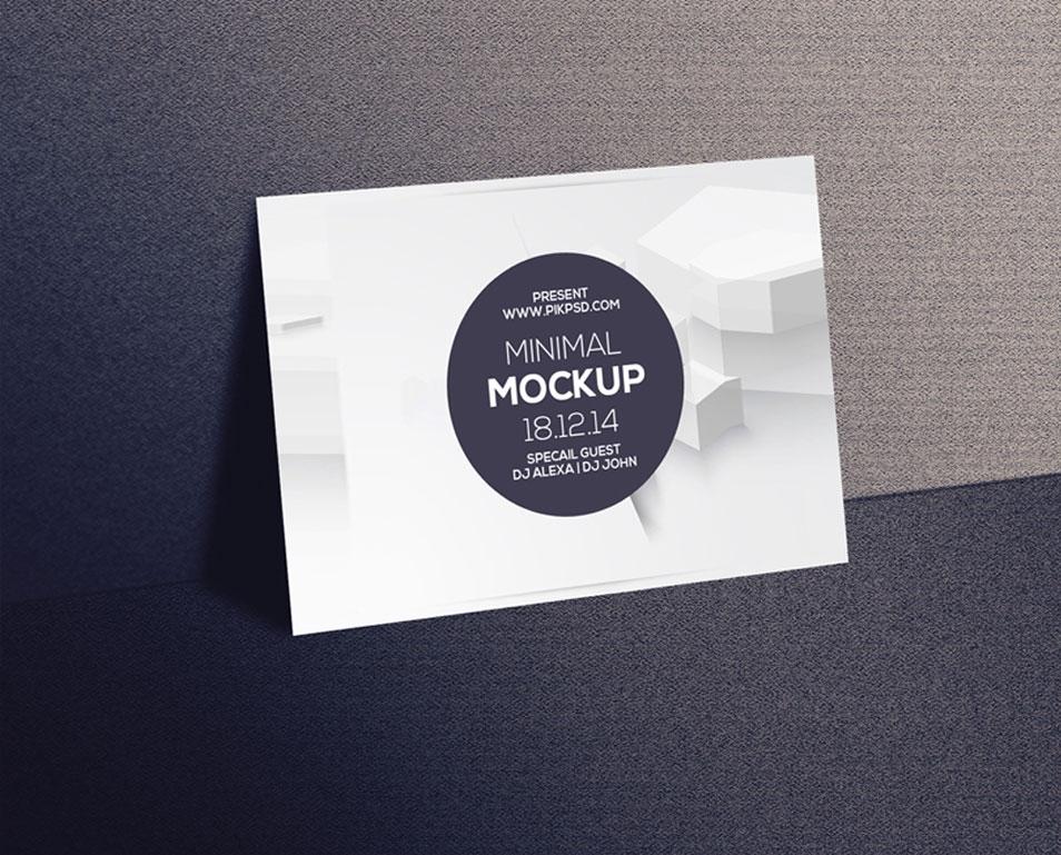 free postcard invitation mockup psd css author