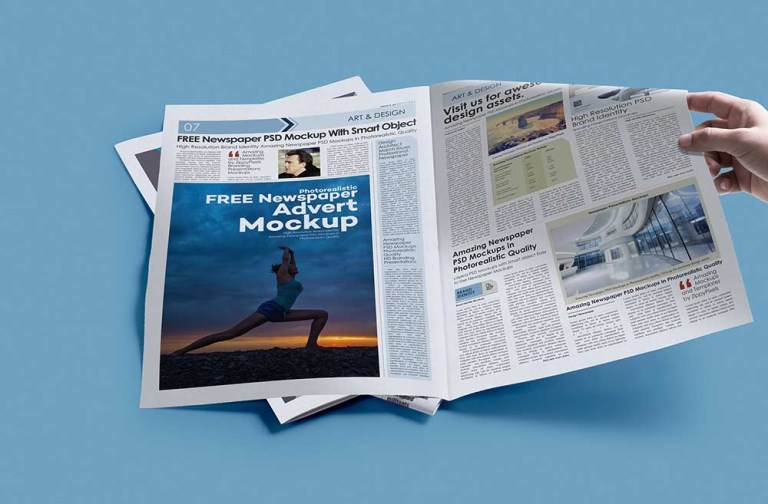 free print newspaper mockup mockuptree