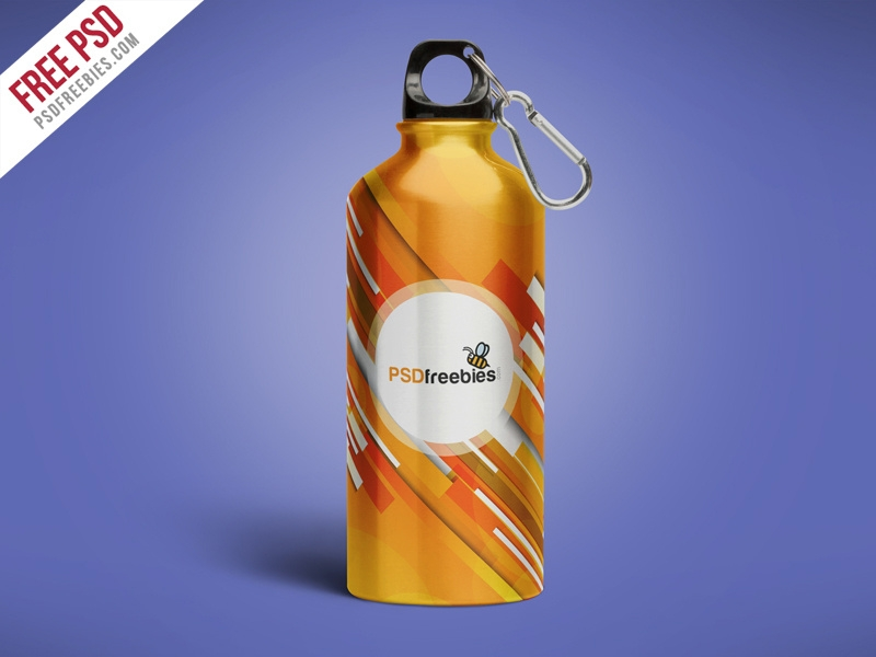 free psd aluminum water bottle mockup free psd psd freebies on