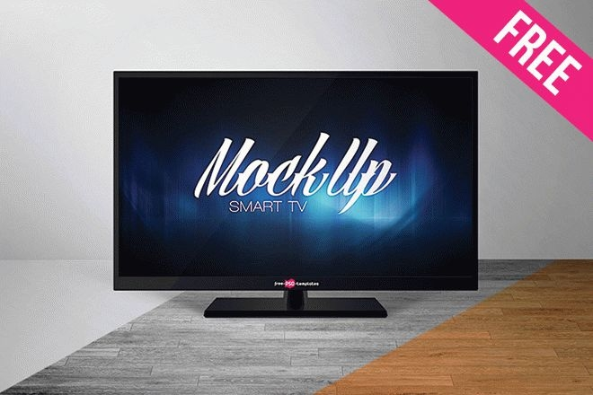 free smart tv mock up in psd free psd templates