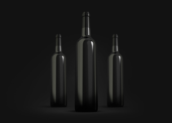 free wine bottles mockup psd free psd file