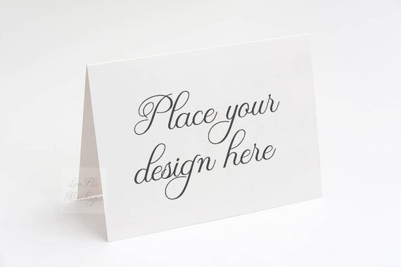 greeting card mockup invitation mockup 55 x 425 etsy