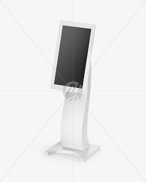 information kiosk mockup half side view in device mockups on