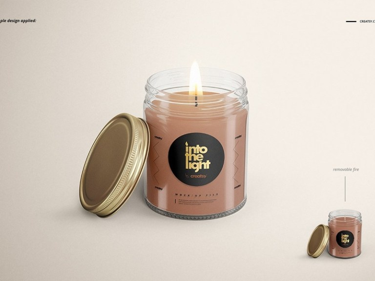 jar candle mockup set mockup5 on dribbble