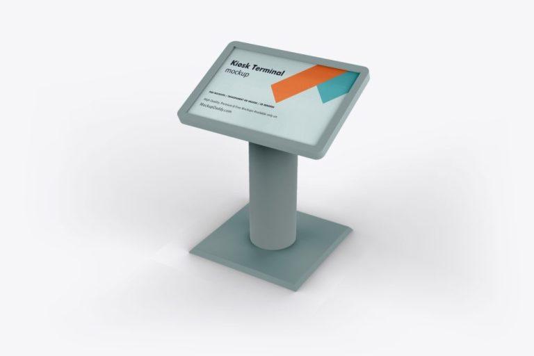 kiosk terminal mockup premium branding mockups