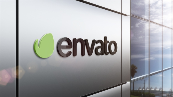 logo mock up corporate wall pack sotto3d videohive