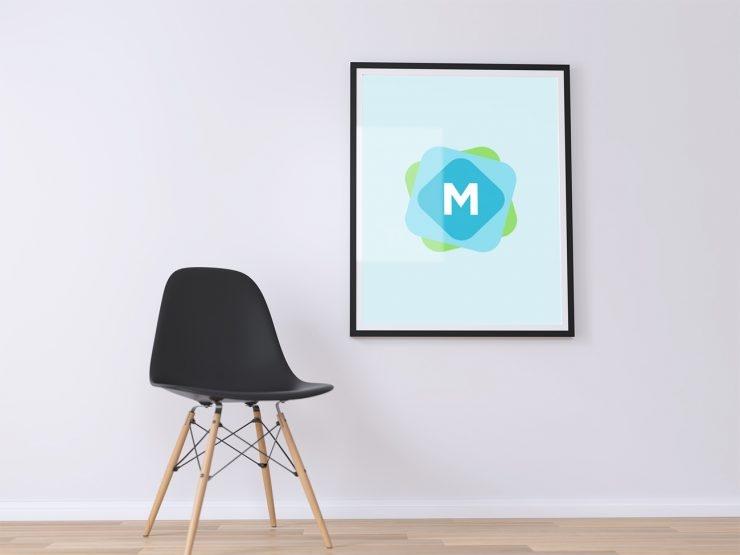 minimal poster wall mockup psd mockup templates