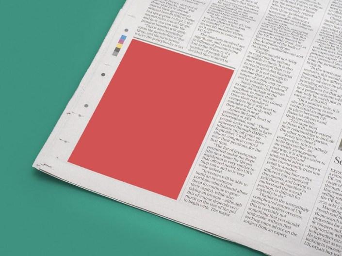 newspaper ad mockup sample free psd template psd repo