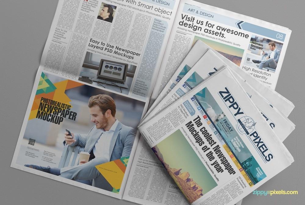 newspaper advertising mockup mockupworld