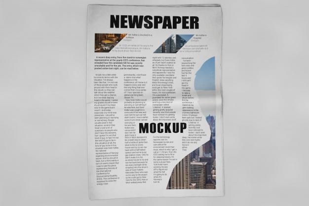 newspaper mockup psd file free download