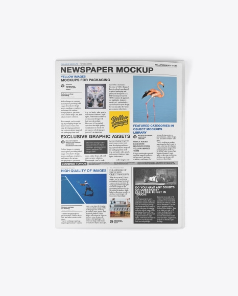 newspaper mockup top view free and download psd mock ups
