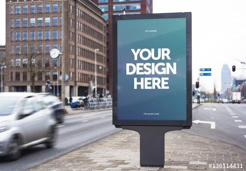 outdoor kiosk advertisement mockup 7 buy this stock template and