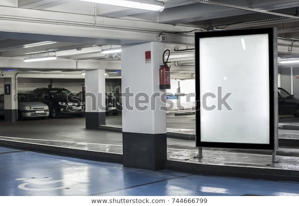 parking garage abri kiosk mockup stock photo edit now 744666799