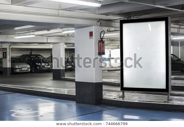 parking garage abri kiosk mockup stock photo edit now 744666799