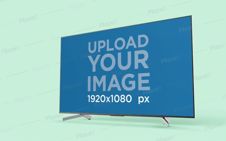 placeit tv mockup featuring a flat screen in a colored background