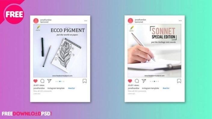 premium pen social media posts freedownloadpsd