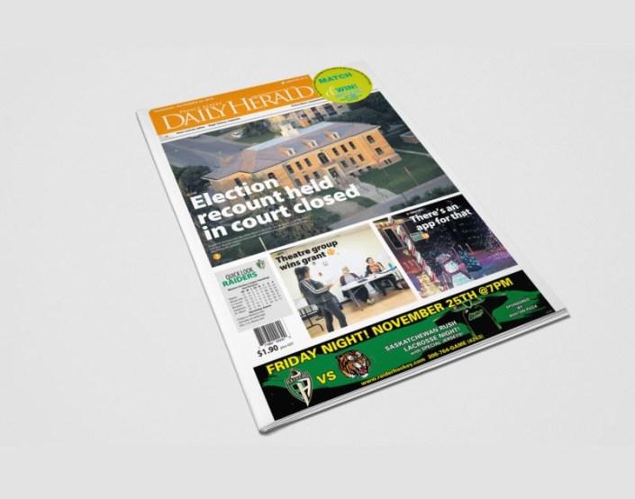 prince albert newspaper mockup 2 prince albert daily herald