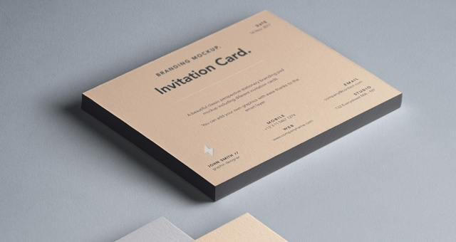 psd invitation card mockup vol6 psd mock up templates pixeden