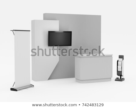 royalty free stock illustration of stand booth stall kiosk mockup