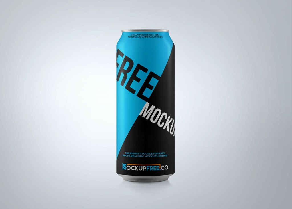 single soda can mockup mockupworld