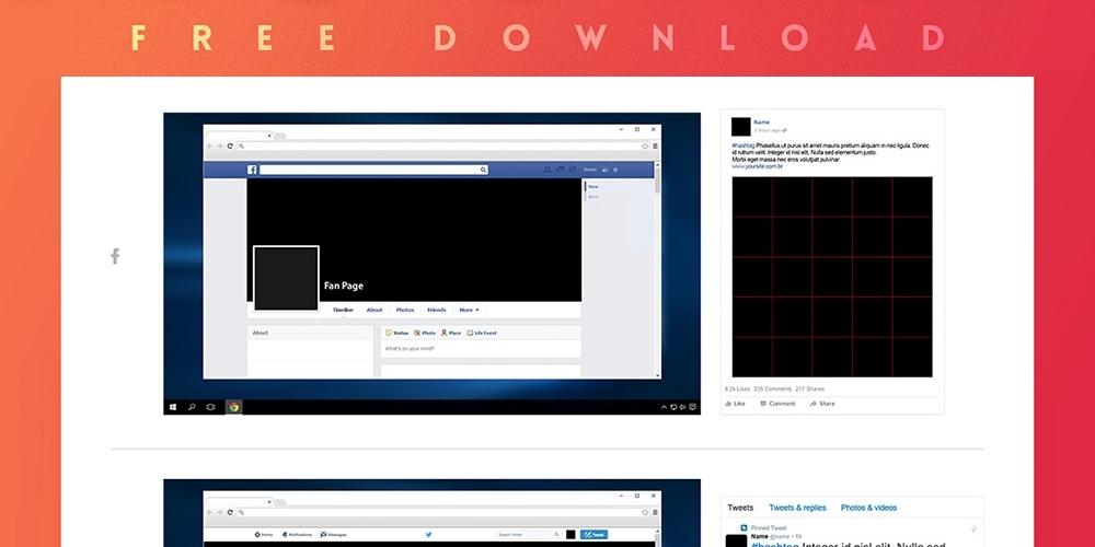 social media mockup kit free psd freepsdcc free psd files and