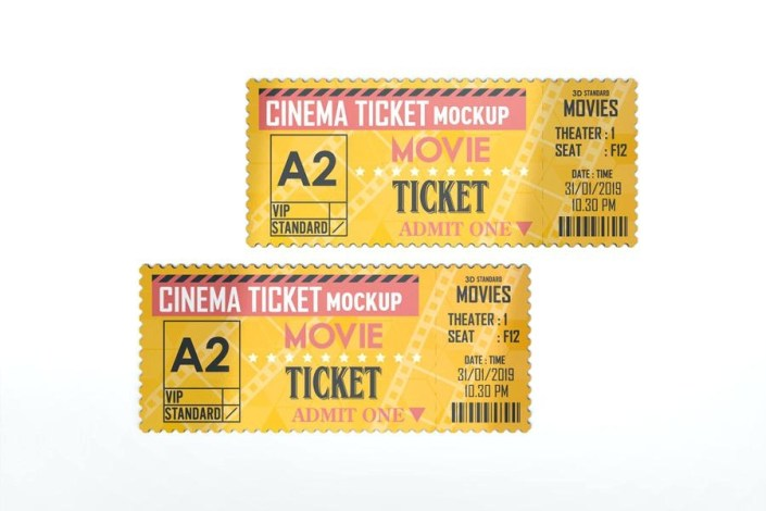 spec movie ticket psd cinema mockup jideoco