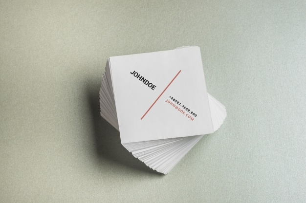 square business card mockup psd file free download