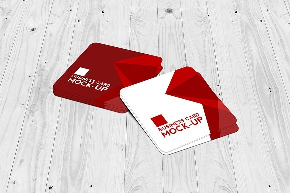 square business card mockup set mockup store