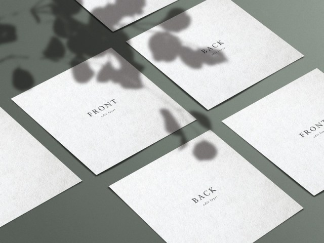square business card mockup with shadows cocotamarindo on dribbble