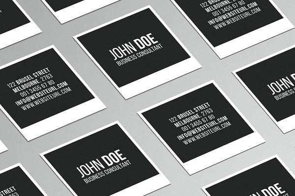 square business card template free square business card template