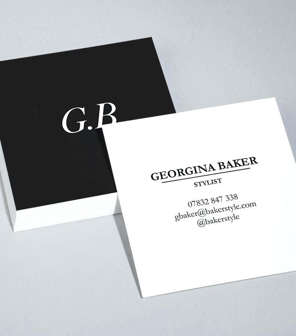square business card template free