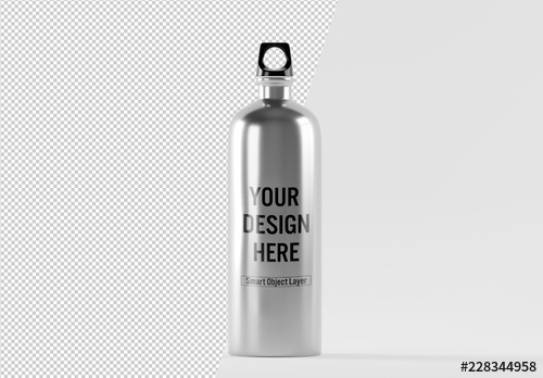 stainless steel water bottle mockup buy this stock template and