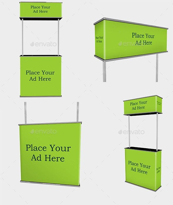 stand mockup signage print this mock up helps you to show your