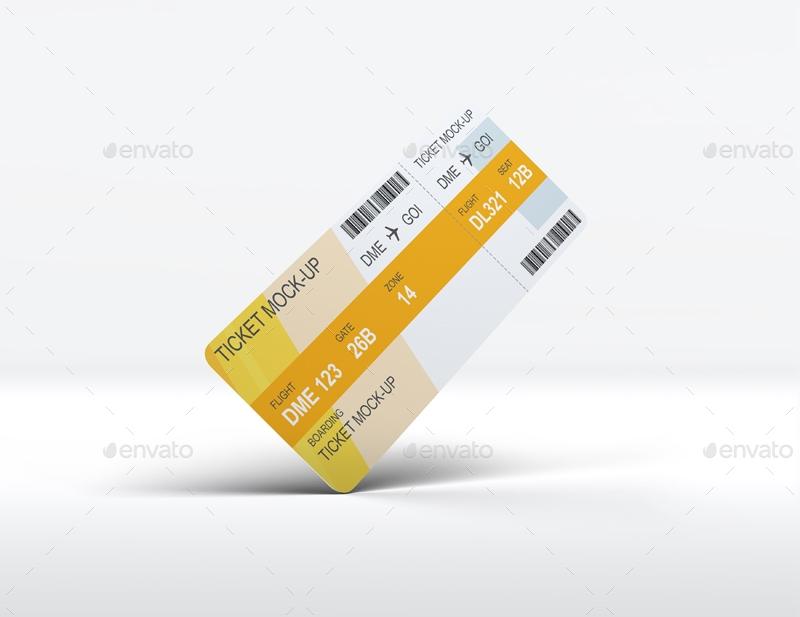 ticket mock up l5design graphicriver