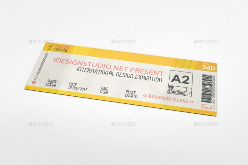 ticket mockup bagera graphicriver