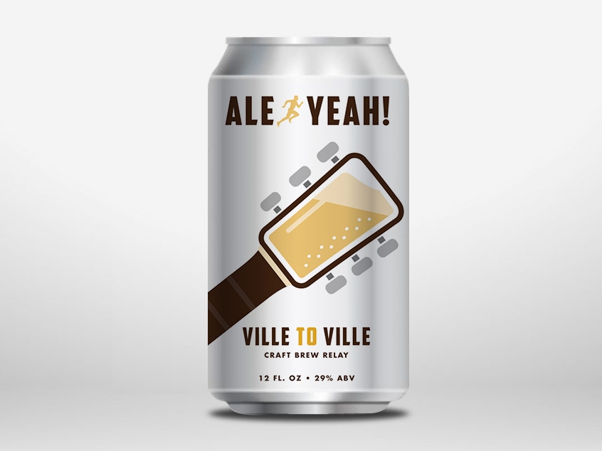 ville to ville relay beer can mockup bennett coleman dribbble