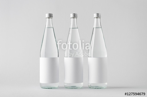 water bottle mock up three bottles blank label stock photo and