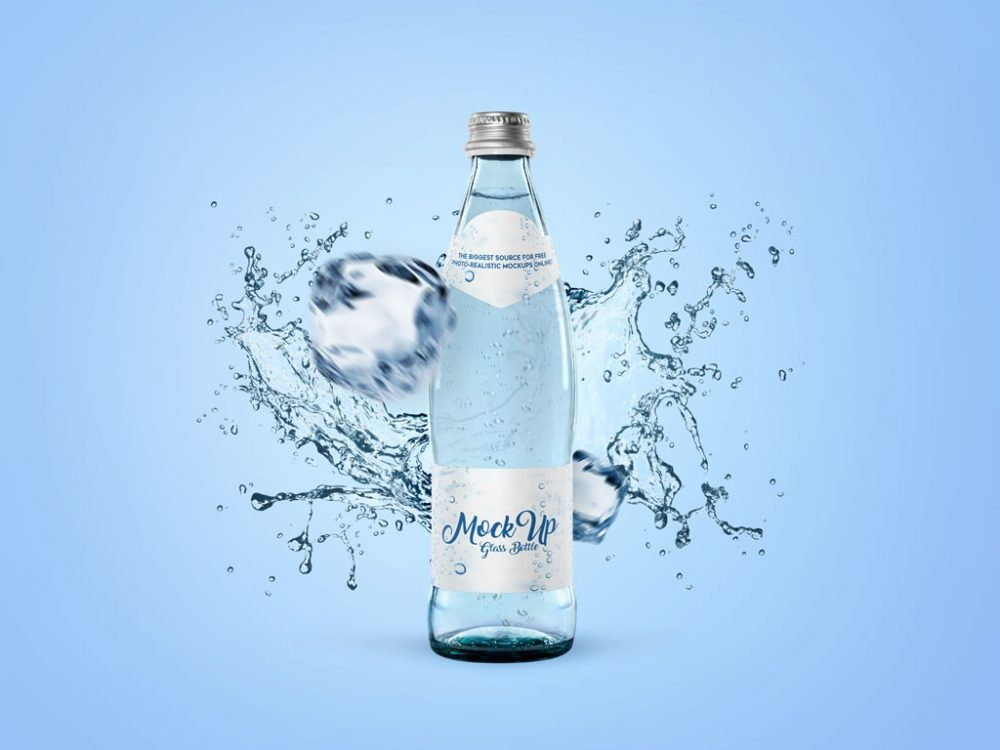 water bottle with labels mockup mockupworld